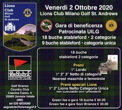 Gara di beneficenza L.C. MILANO GOLF ST.ANDREWS