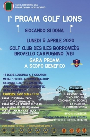 1^ PROAM GOLF LIONS - GIOCANDO SI DONA