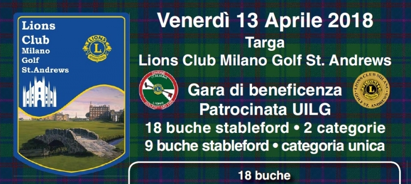TARGA L.C. MILANO GOLF ST. ANDREWS