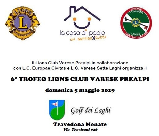 6° TROFEO LIONS CLUB VARESE PREALPI